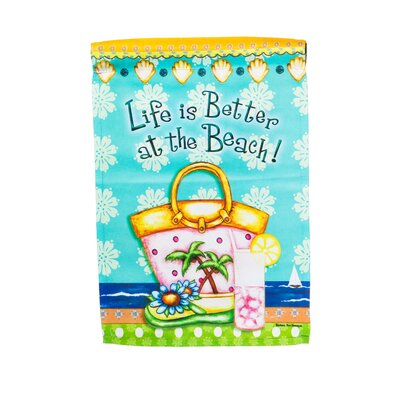 Coastal Life is Better at the Beach Vertical Flag 14S3412
