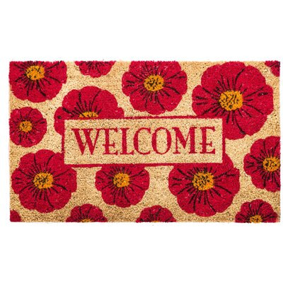 Uri Floral Welcome Coir Doormat