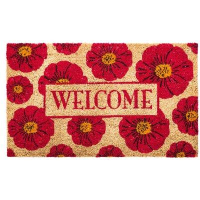 Aloha Floral Welcome Coir Doormat