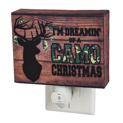 Camo Christmas Canvas Nightlight
