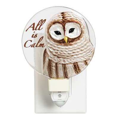All is Calm Hand Painted Glass Night Light