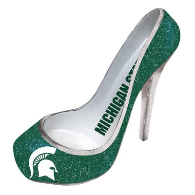 Glitter Shoe 1 Bottle Tabletop Wine Rack NCAA Team: Michigan State Spartans