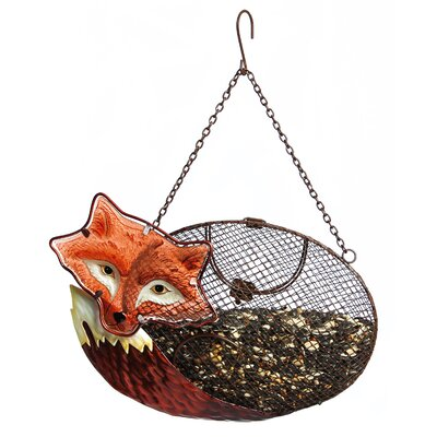 Resting Fox Mesh Decorative Bird Feeder 2BF650
