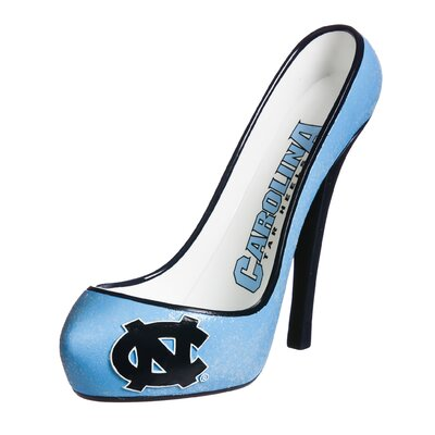 Glitter Shoe 1 Bottle Tabletop Wine Rack NCAA Team: North Carolina Tar Heels