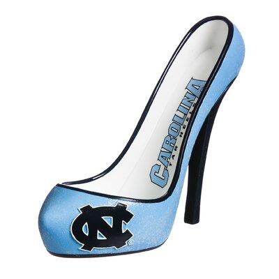 Glitter Shoe 1 Bottle Tabletop Wine Rack NCAA Team: North Carolina Tar Heels