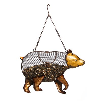 Strolling Bear Mesh Decorative Bird Feeder 2BF649