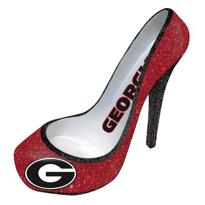 Glitter Shoe 1 Bottle Tabletop Wine Rack NCAA Team: Georgia Bulldogs