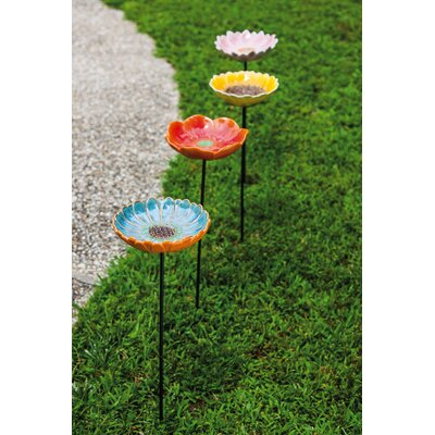 4 Piece Decorative Flower Garden Stake Set 491470