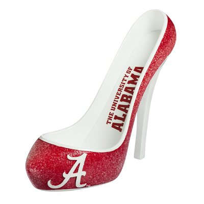 Glitter Shoe 1 Bottle Tabletop Wine Rack NCAA Team: Alabama Crimson Tide