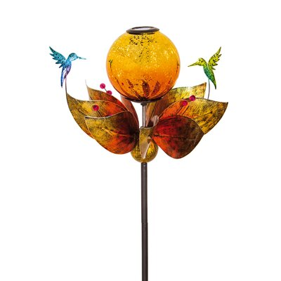 Floating Hummingbird Solar Kinetic Garden Stake