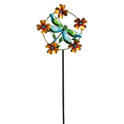 Delightful Dragonfly Kinetic Garden Stake