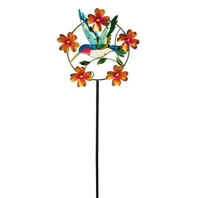 Hovering Hummingbird Kinetic Garden Stake