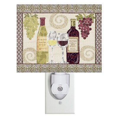 Wine Mosaic Canvas Night Light