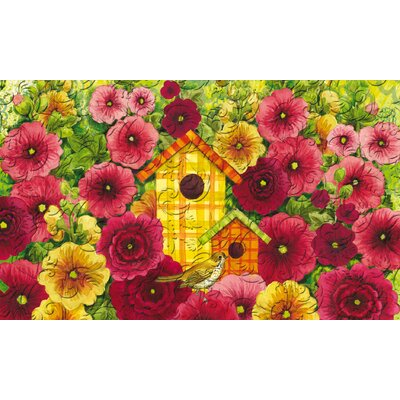 Summer Birdhouse Embossed Doormat 41EM2153