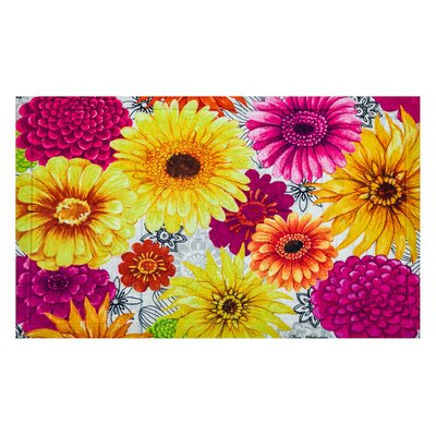 Summer Flowers Embossed Doormat