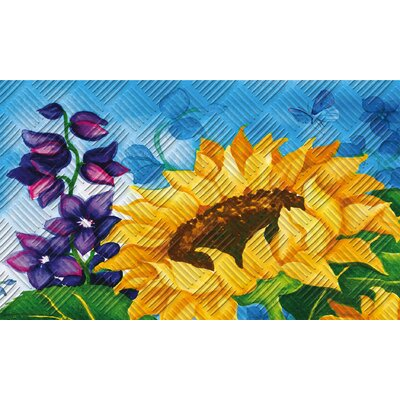 Sunflower Bloom Embossed Doormat