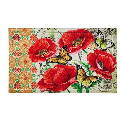 Uri Floral Bright Embossed Doormat