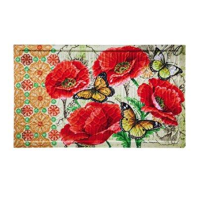 Uri Floral Bright Embossed Doormat