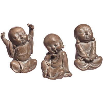 3 Piece Tired Little Buddhas Statue Set 846034