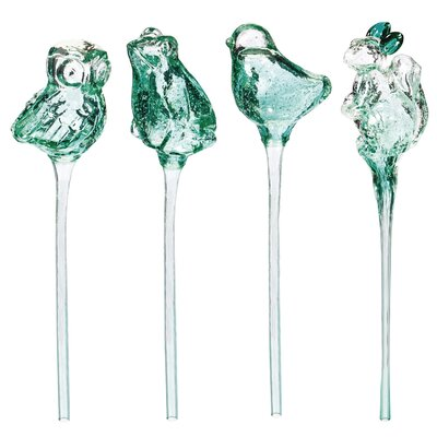 4 Piece Animal Friends Water Globe Garden Stake Set 846075