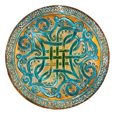 "Celtic Knots 18"" Glass Birdbath 2GB586"