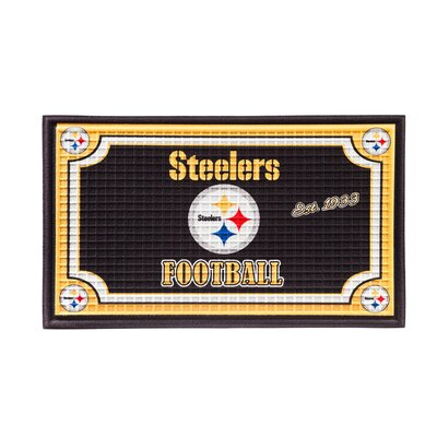 NFL Embossed Doormat NFL Team: Pittsburgh Steelers