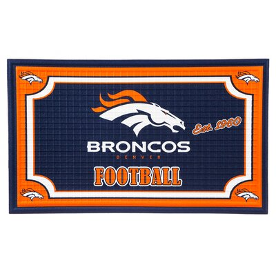 NFL Embossed Doormat NFL Team: Denver Broncos