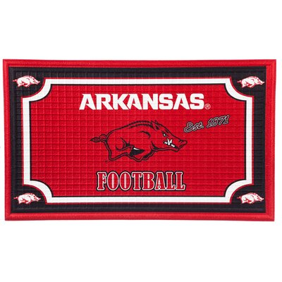 NCAA Embossed Doormat NCAA Team: University of Arkansas