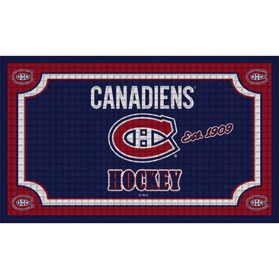 NHL Embossed Doormat NHL Team: Montreal Canadiens