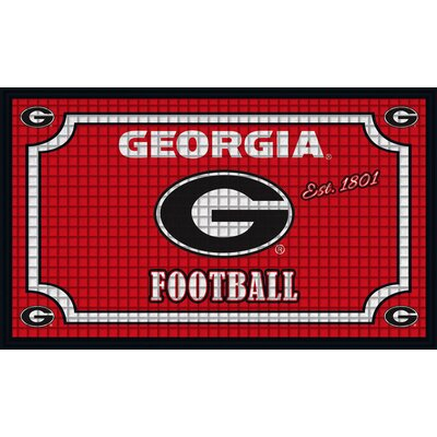 NCAA Embossed Doormat NCAA Team: University of Georgia
