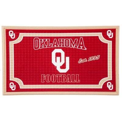 NCAA Embossed Doormat NCAA Team: University of Oklahoma