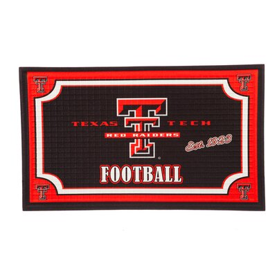 NCAA Embossed Doormat NCAA Team: Texas Tech University