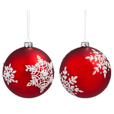 2 Piece Nordic Glass Ball Ornament Set 3OTG190