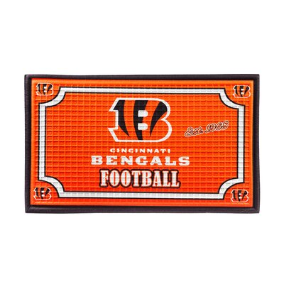 NFL Embossed Doormat NFL Team: Cincinnati Bengals