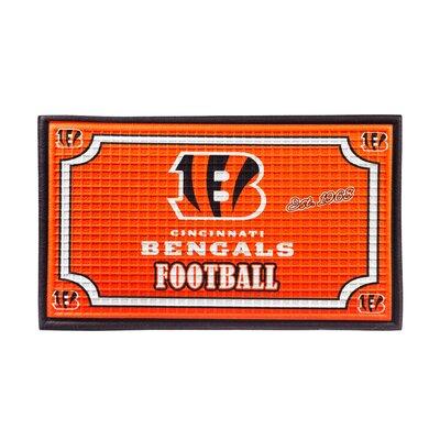 NFL Embossed Doormat NFL Team: Cincinnati Bengals