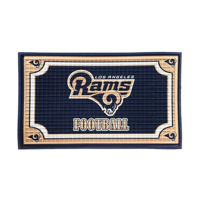 NFL Embossed Doormat NFL Team: Los Angeles Rams