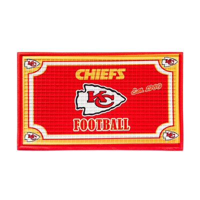 NFL Embossed Doormat NFL Team: Kansas City Chiefs