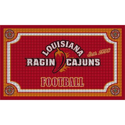 NCAA Embossed Doormat NCAA Team: University of Louisiana Cajuns