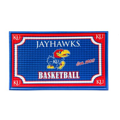 NCAA Embossed Doormat NCAA Team: University of Kansas