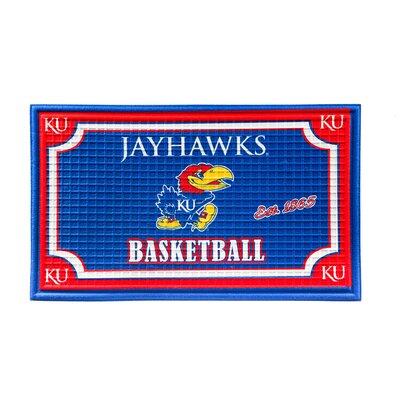 NCAA Embossed Doormat NCAA Team: University of Kansas