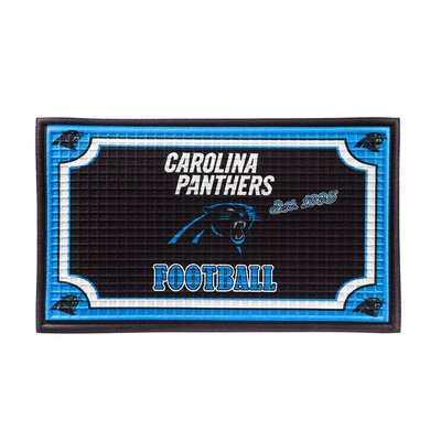 NFL Embossed Doormat NFL Team: Carolina Panthers