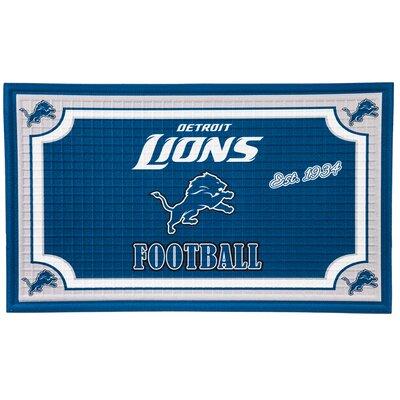 NFL Embossed Doormat NFL Team: Detroit Lions