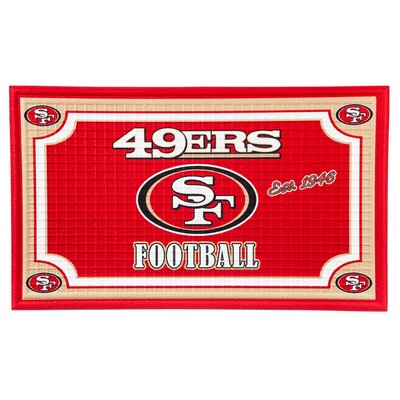 NFL Embossed Doormat NFL Team: San Francisco 49ers