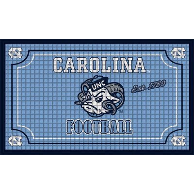NCAA Embossed Doormat NCAA Team: University of North Carolina