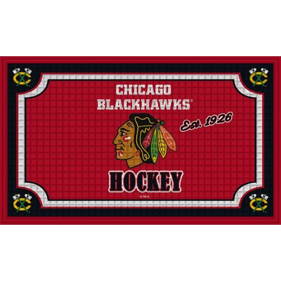 NHL Embossed Doormat NHL Team: Chicago Blackhawks