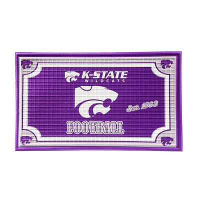 NCAA Embossed Doormat NCAA Team: Kansas State University