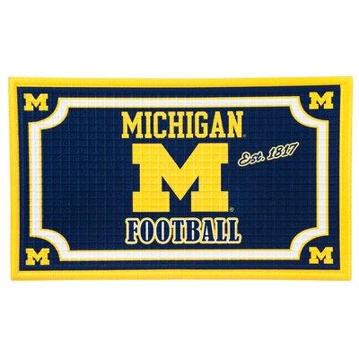 NCAA Embossed Doormat NCAA Team: University Of Michigan
