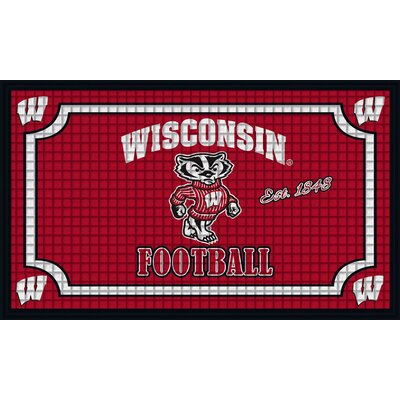 NCAA Embossed Doormat NCAA Team: University of Wisconsin-Madison