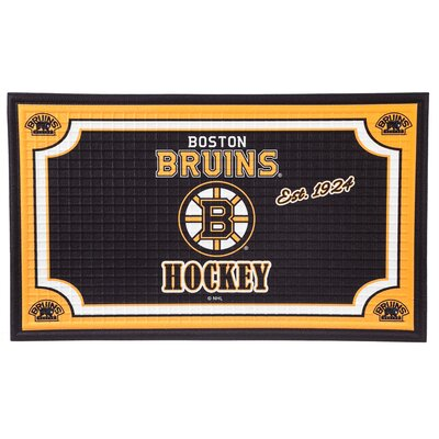 NHL Embossed Doormat NHL Team: Boston Bruins