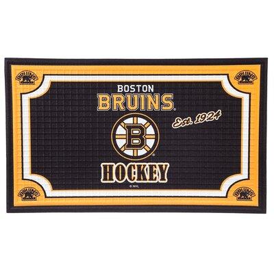 NHL Embossed Doormat NHL Team: Boston Bruins